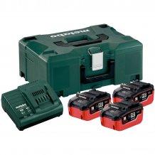Набор аккумуляторов Metabo 18 В, 3х5.5 Ач, LiHD + MetaLoc (685069000)