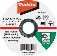 Круг отрезной по бетону Makita 115x3,0x22,23мм (A-85357)