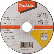 Отрезной диск по нержавейке Makita 125 мм (D-18770)