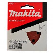 Набор шлифовальной бумаги для мультитулов по дереву Makita 94х94 мм К60/80/100/120/180 (B-21559)