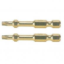 Торсионная бита золотой серии Makita T15 50мм (2шт) (B-28232)