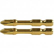 Торсионная бита золотой серии с двойным торсионом Makita PZ2-50мм (2шт) (B-39182)