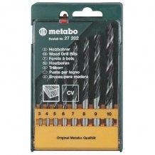 Набор сверл по дереву Metabo, 8 шт., диам. 3-10 мм (627202000)