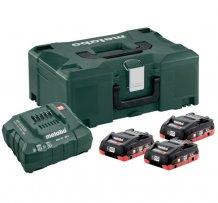 Набор аккумуляторов Metabo 18 В, 3x4 Ач, LiHD + MetaLoc