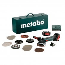 Аккумуляторная болгарка Metabo W 18 LTX 125 QUICK INOх SET (600174880)