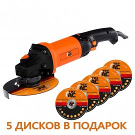 Угловая шлифмашина Тех-АС ТА-01-425 + диск ТА-05-005 (5шт)