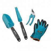 Комплект садовых инструментов Gardena, 3 ед. + перчатки  (08965-30.000.00)