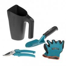 Комплект садовых инструментов Gardena, 2 ед. с ковшом + перчатки (08966-30.000.00)
