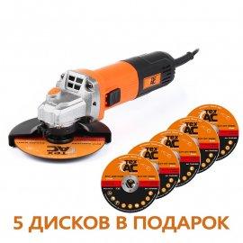 Угловая шлифмашина Тех-АС ТА-01-430 + диск ТА-05-005 (5шт)