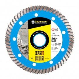 Круг алмазный отрезной Baumesser 1A1R Turbo 125x2,2x8x22,23 Beton PRO (90215008010)