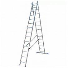 Лестница ELKOP VHR HOBBY 2X14 алюминиевая, 2 секции, 14 ступеней (38182)