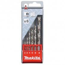 Набор сверл по металлу HSS-G Makita 6 шт (D-57196)