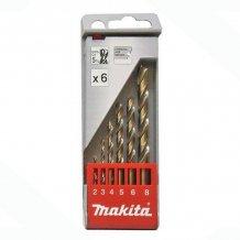 Набор сверл по металлу HSS-Co по металлу 2-8 мм (6 шт.) Makita (D-57168)
