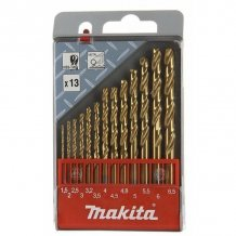 Набор сверл по металлу  HSS-TIN Makita 13 шт (D-43577)