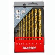 Набор сверл по металлу HSS-TIN Makita 10 шт (D-43561)
