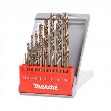 Набор сверл по металлу HSS-Co по металлу 1-10 мм (10 шт.) Makita (D-57174)