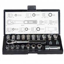Набор торцевых головок + шарнирный ключ Makita 21 шт. с ключом 3/8 (B-65604)