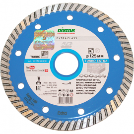 Алмазный диск DISTAR Turbo 125х2,2х10х22,23 Eхtra
