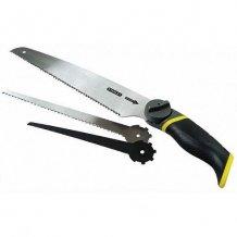 """Ножовка STANLEY """"3 в 1"""" универсальная:Полотно по металлу L150мм универсальное полотно для фигурного реза (0-20-092)"""