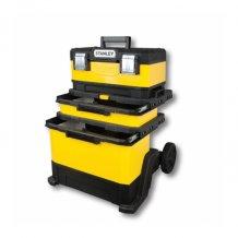 Ящик Stanley Rolling Workshop на колёсах металлопластмассовый, жёлтый (1-95-621)