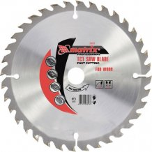 Пильный диск по дереву, 190 х 24 мм, 20 зубьев, + кольцо, 16/20// MTX Professional (732139)