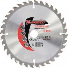 Пильный диск по дереву, 190 х 20 мм, 36 зубьев, + кольцо, 16/20// MTX Professional (732799).