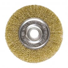 Щетка дисковая 150х22.2 мм, для УШМ, плоская металлическая MTX (746649).