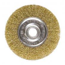 Щетка дисковая 200х22 мм, для УШМ, плоская металлическая MTX (746689).