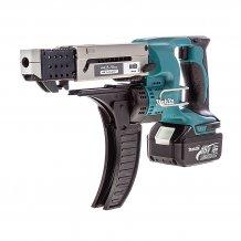 Аккумуляторный магазинный шуруповерт MAKITA с автоматической подачей (DFR550RFE)