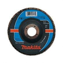 Лепестковый шлифовальный диск Makita115х22,23 К120, корунд (P-65165).