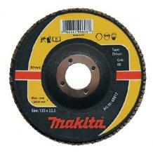 Лепестковый шлифовальный диск Makita 125х22,23 К80, цирконий (P-65517).
